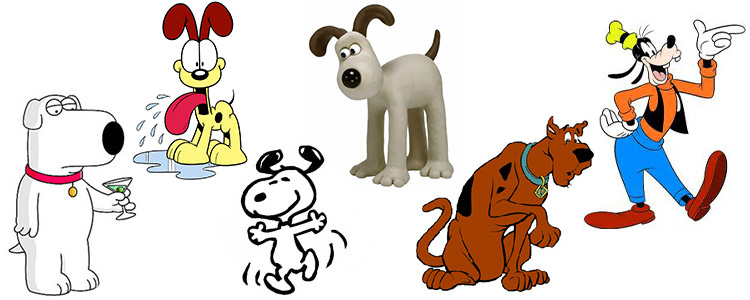 Famous cartoon dogs